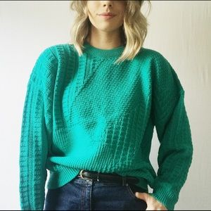 Boho Vintage Oversized Chunky Cable Knit Sweater